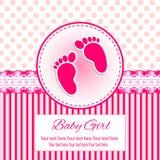 Κάρτα πρόσκλησης μωρών Ελεύθερη απεικόνιση δικαιώματος