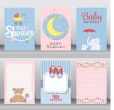 Κάρτα πρόσκλησης ντους μωρών διάνυσμα απεικόνιση αποθεμάτων