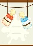 Κάρτα πρόσκλησης ντους μωρών Στοκ Εικόνες