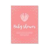 Κάρτα πρόσκλησης ντους μωρών Στοκ Εικόνα