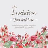 Κάρτα πρόσκλησης λουλουδιών Στοκ εικόνα με δικαίωμα ελεύθερης χρήσης