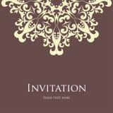 Κάρτα πρόσκλησης Στοκ Εικόνες