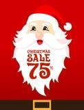 Κάρτα πώλησης Santa Στοκ Εικόνες