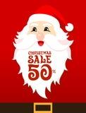 Κάρτα πώλησης Santa Στοκ Φωτογραφία