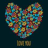 Κάρτα σε ένα ύφος των παιδιών για τις προσκλήσεις ή τους χαιρετισμούς Doodles, κινούμενα σχέδια απομονωμένο καρδιά λευκό ντοματών Στοκ φωτογραφία με δικαίωμα ελεύθερης χρήσης