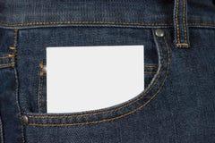 Κάρτα σε μια τσέπη στοκ εικόνες