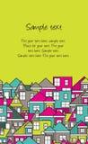 Κάρτα σπιτιών Στοκ Εικόνα