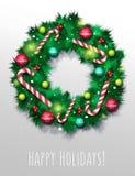 Κάρτα στεφανιών Χριστουγέννων Στοκ Φωτογραφία