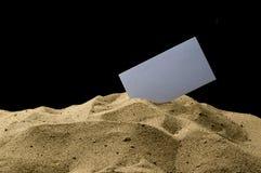 Κάρτα στην άμμο Στοκ φωτογραφία με δικαίωμα ελεύθερης χρήσης