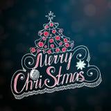 Κάρτα συγχαρητηρίων Χαρούμενα Χριστούγεννας σε μουτζουρωμένο Στοκ φωτογραφία με δικαίωμα ελεύθερης χρήσης