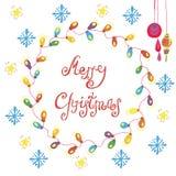 κάρτα συγχαρητηρίων Χριστουγέννων Στοκ εικόνα με δικαίωμα ελεύθερης χρήσης