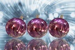 Κάρτα σφαιρών Χριστουγέννων Στοκ Εικόνες