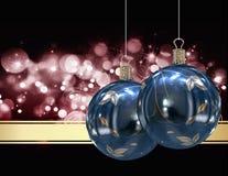 Κάρτα σφαιρών Χριστουγέννων Στοκ φωτογραφία με δικαίωμα ελεύθερης χρήσης