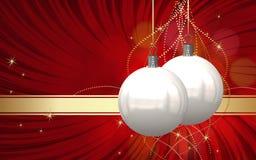 Κάρτα σφαιρών Χριστουγέννων Στοκ Φωτογραφίες
