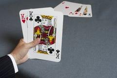 κάρτα τέσσερα άσσων τύχη παιχνιδιών Στοκ Φωτογραφία