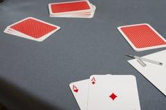 κάρτα τέσσερα άσσων τύχη παιχνιδιών Στοκ φωτογραφία με δικαίωμα ελεύθερης χρήσης