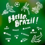 Κάρτα της Βραζιλίας χαιρετισμών Στοκ Εικόνα