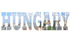 Κάρτα της Ουγγαρίας Στοκ φωτογραφία με δικαίωμα ελεύθερης χρήσης