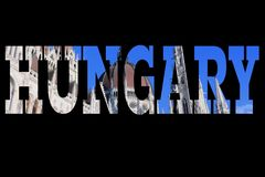 Κάρτα της Ουγγαρίας Στοκ φωτογραφίες με δικαίωμα ελεύθερης χρήσης