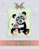 Κάρτα της Panda Στοκ εικόνες με δικαίωμα ελεύθερης χρήσης