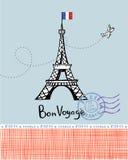 Κάρτα του Παρισιού Στοκ φωτογραφίες με δικαίωμα ελεύθερης χρήσης