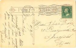 κάρτα του 1911 Στοκ εικόνα με δικαίωμα ελεύθερης χρήσης