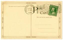 κάρτα του 1911 Στοκ Εικόνα