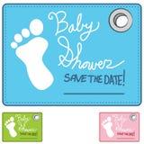 Κάρτα υπενθυμίσεων ντους μωρών Στοκ Φωτογραφίες