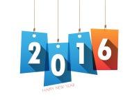 Κάρτα υποβάθρου καλής χρονιάς 2016 διάνυσμα/απεικόνιση Στοκ εικόνες με δικαίωμα ελεύθερης χρήσης