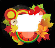 κάρτα φθινοπώρου Στοκ φωτογραφία με δικαίωμα ελεύθερης χρήσης