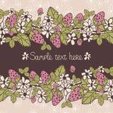 Κάρτα Φράουλες Στοκ φωτογραφία με δικαίωμα ελεύθερης χρήσης