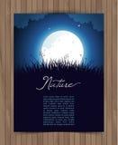Κάρτα φύσης με τη χλόη Στοκ Εικόνα