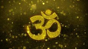 Κάρτα χαιρετισμών επιθυμιών του OM ή Aum Shiva, πρόσκληση, πυροτέχνημα εορτασμού διανυσματική απεικόνιση