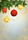 Κάρτα χαιρετισμών Καλών Χριστουγέννων και καλής χρονιάς Στοκ Φωτογραφία