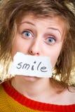 Κάρτα χαμόγελου Στοκ φωτογραφίες με δικαίωμα ελεύθερης χρήσης