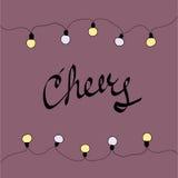 Κάρτα Χαρούμενα Χριστούγεννας Ευθυμίες επίσης corel σύρετε το διάνυσμα απεικόνισης στοκ εικόνες με δικαίωμα ελεύθερης χρήσης