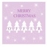 Κάρτα Χαρούμενα Χριστούγεννας, υπόβαθρο ή πώληση/έμβλημα έκπτωσης Στοκ Φωτογραφίες