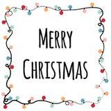 2018 κάρτα Χαρούμενα Χριστούγεννας διανυσματική απεικόνιση
