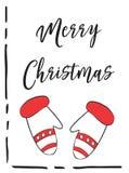 2018 κάρτα Χαρούμενα Χριστούγεννας ελεύθερη απεικόνιση δικαιώματος