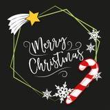 2018 κάρτα Χαρούμενα Χριστούγεννας απεικόνιση αποθεμάτων