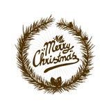 Κάρτα Χαρούμενα Χριστούγεννας Στοκ Φωτογραφία