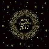Κάρτα Χαρούμενα Χριστούγεννας 2017 Στοκ εικόνα με δικαίωμα ελεύθερης χρήσης