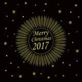 Κάρτα Χαρούμενα Χριστούγεννας 2017 Στοκ εικόνες με δικαίωμα ελεύθερης χρήσης