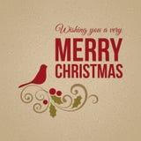 Κάρτα Χαρούμενα Χριστούγεννας Στοκ Εικόνα
