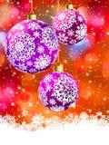 Κάρτα Χαρούμενα Χριστούγεννας EPS 8 Στοκ Εικόνα