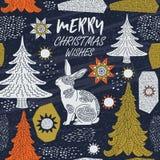 Κάρτα χειμερινών διακοπών Πρότυπο Χριστουγέννων Ελεύθερη απεικόνιση δικαιώματος