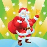 Κάρτα Χριστουγέννων Άγιου Βασίλη Στοκ Φωτογραφίες