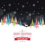 Κάρτα Χριστουγέννων - απεικόνιση Στοκ Εικόνες
