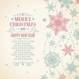 Κάρτα Χριστουγέννων - απεικόνιση Στοκ Εικόνα