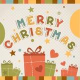 Κάρτα Χριστουγέννων. Διανυσματική απεικόνιση Στοκ εικόνες με δικαίωμα ελεύθερης χρήσης